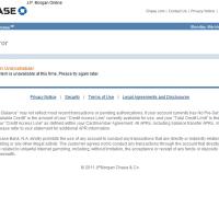 Chase Online - Error