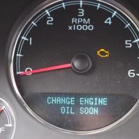CHANGE ENGINE OIL SOON