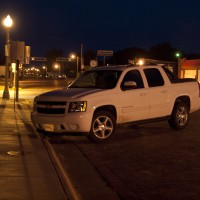 White Chevy Avalanche