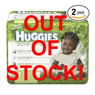 huggies out of stock