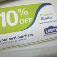 10% off at Lowe's Coupon, Project Starter!