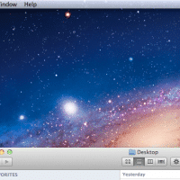 Mac OSX Lion Desktop before minimize all