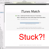 "iTunes match stuck at Step 2? Try pressing ""Stop"" and then ""Start""ing again"