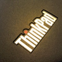Classic ThinkPda logo that appears on the X220 palm rest