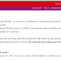 The sad email from Virgin Mobile :-(