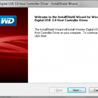 Screenshot of the driver installation for the WD USB 3.0 card