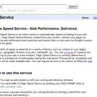 Google's service to speed up web pages