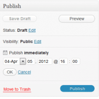 WordPress makes it dead simple to post-date a blog entry