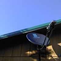 Photo of Exede satellite internet dish by WildBlue