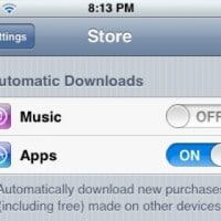 iOS Automatic Downloads Settings Screenshot