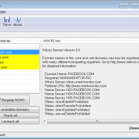 MultiLook for Windows screenshot showing sample domains