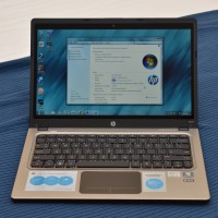 HP Folio 13 showing the Windows 7 desktop
