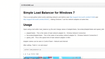Free Windows 7 load balancer screenshot