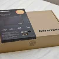 The boxes for the  Lenovo Yoga 13 and Lenovo SlotIn Case