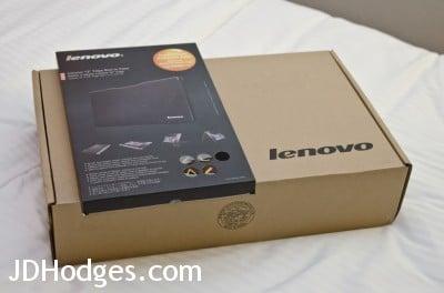 The boxes for the  Lenovo Yoga 13 and Lenovo SlotIn Case