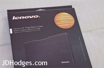 The box for the Lenovo Yoga 13 Slot In case