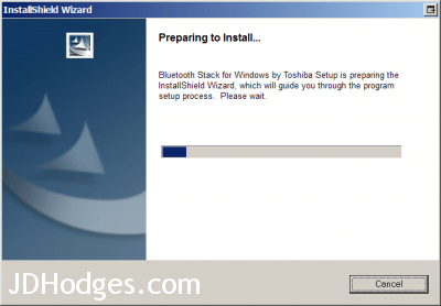 Screenshot showing driver installation