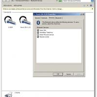 Parrot Zik Bluetooth Headset Properties Windows 7