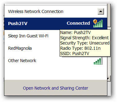Connect to the PTV3000's wifi network