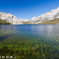 Printscreen of the Chrome OS Desktop