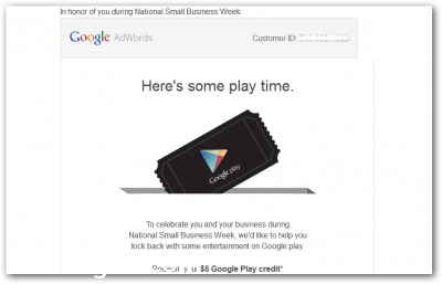 Free Google Play Credit Email