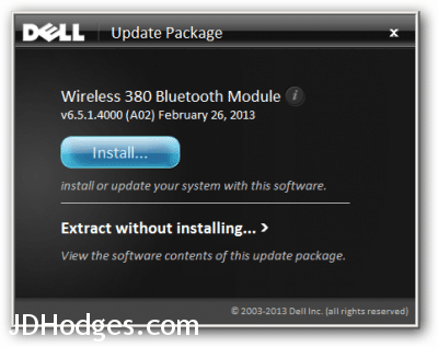 Dell Wireless 380 Installation Package