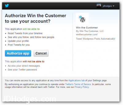 Click Authorize App