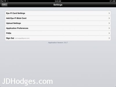 Adjust upload settings in Eye-Fi to disable RAW on iPad/iPhone