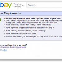 Set eBay Buyer Requirements