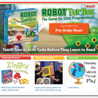 Screenshot of the Thinkfun.com homepage featuring RobotTurtles