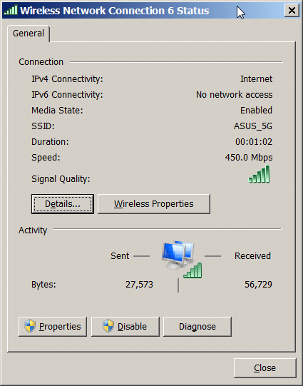 Full signal strength and 450Mbs using  Intel Centrino Ultimate-N 6300 AGN on upgraded Lenovo X220.