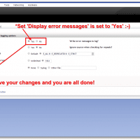 Set Display Error Message to Yes and save your settings! :-)