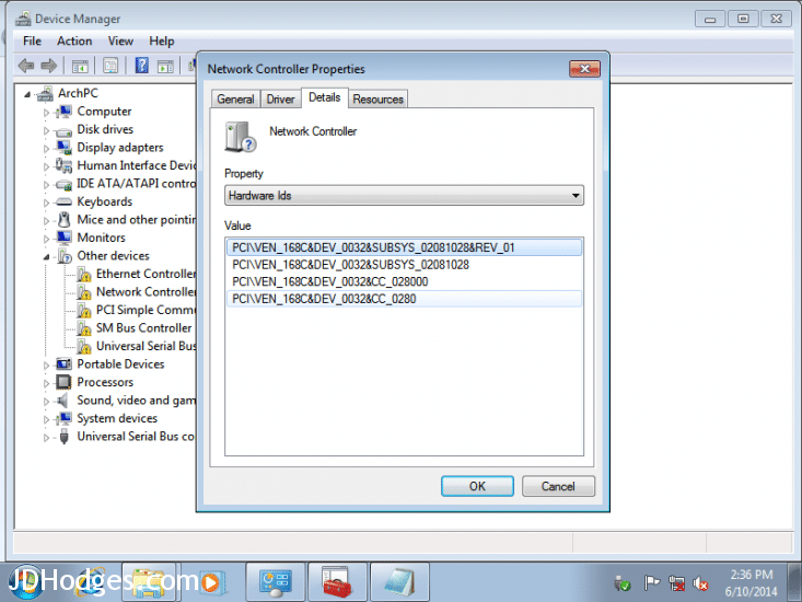 Unknown device in Device Manager, Ethernet controller