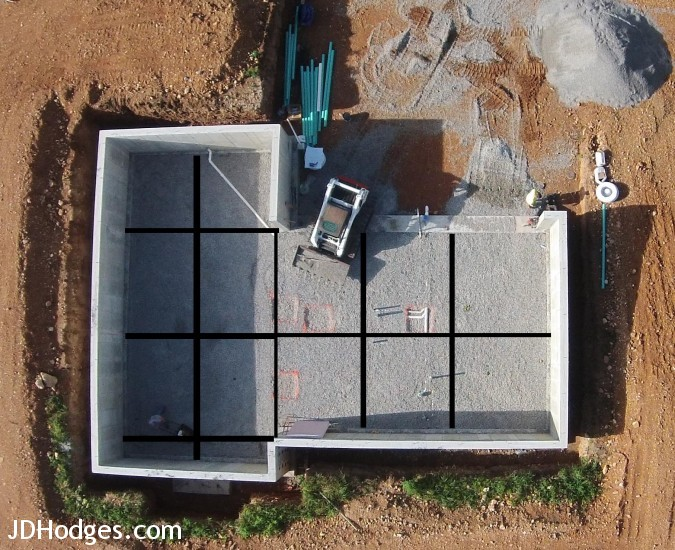Pre Made Cement Slab : Control joints in concrete basement slab