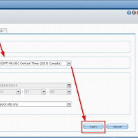Screenshot showing how to set the timezone in Synology's DSM NAS software