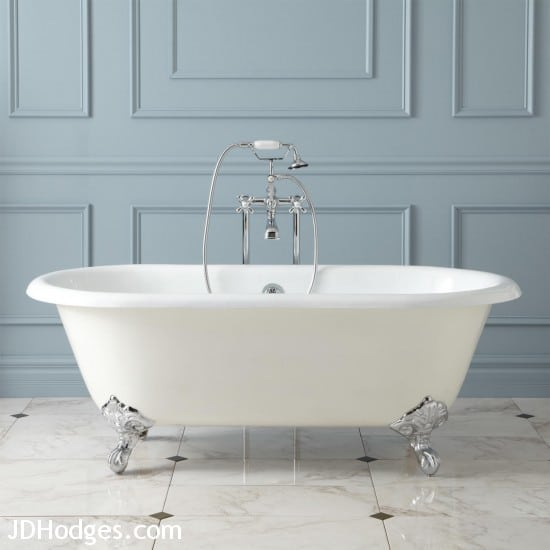 "68"" Ralston Cast Iron Double-Ended Clawfoot Tub from Signature Hardware"