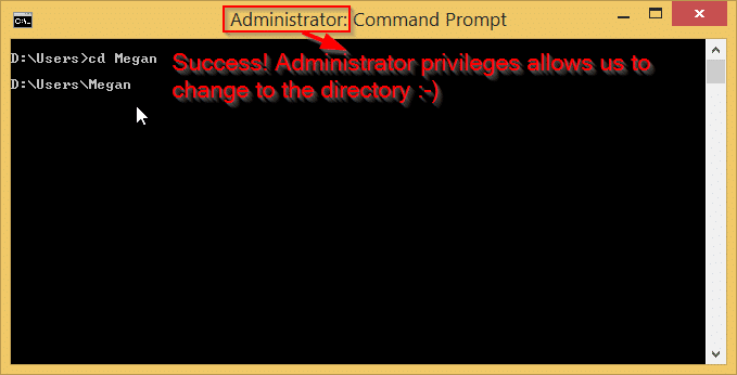 Administrator elevated privileges allows access