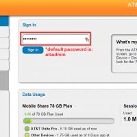 ATT Unite Pro hotspot login password