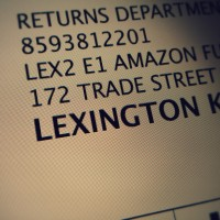 Photo of Amazon return label