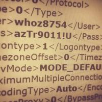 FileZilla password listing
