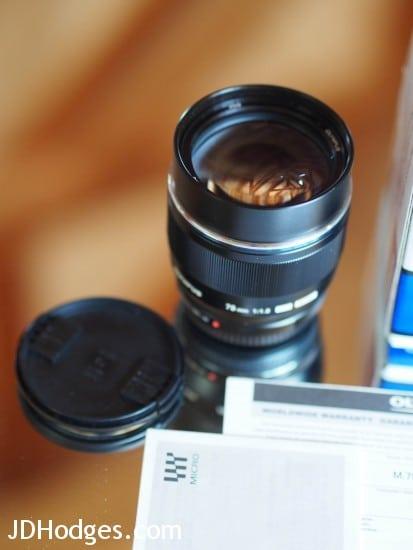 Olympus 75mm front lens element