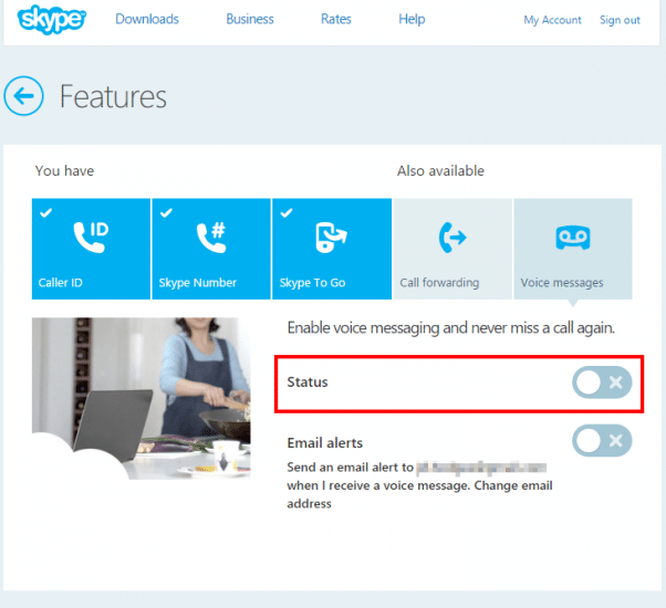 Skype voicemail disabled!