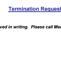 Policy Termination Request Info