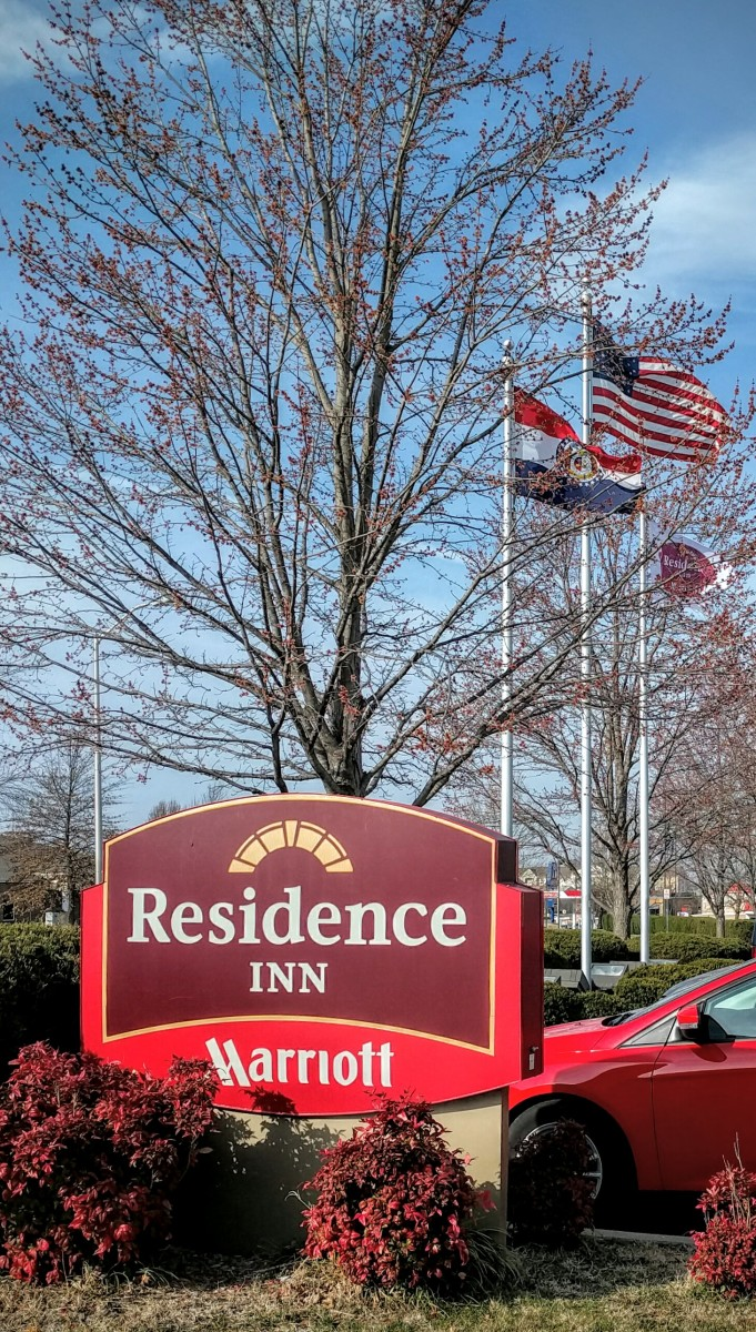 Residence Inn Roadside Sign and Flags