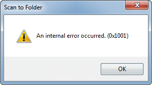 ScanSnap Error Message