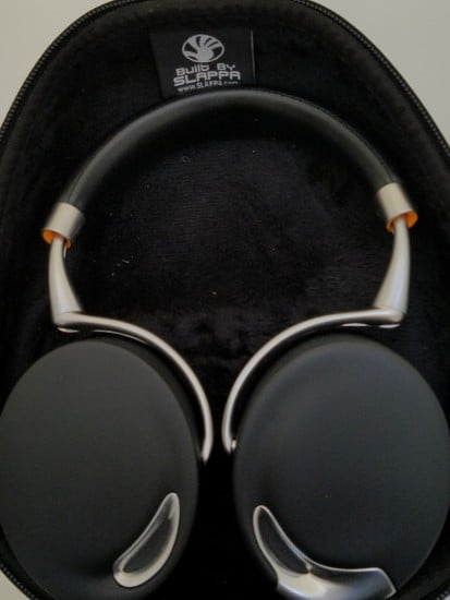 Parrot Zik headphones in a travel case