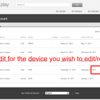 "Click ""Edit"" for the device you want to remove"