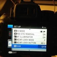 Enable Fuji HS30EXR RAW + JPEG mode