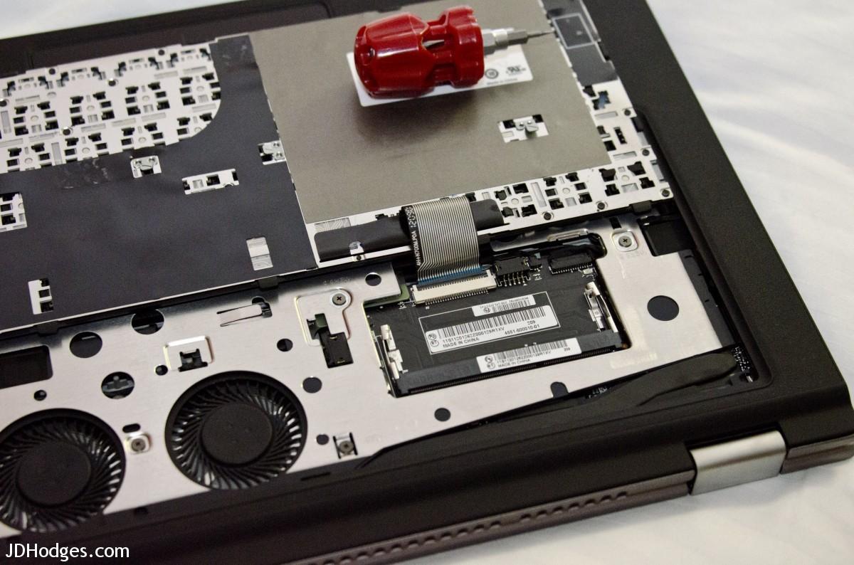 Closeup of the RAM slot