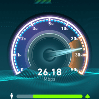26+ Mb/s download over cellular, not bad!